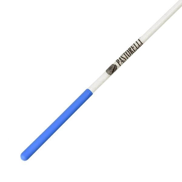 Bacchetta Pastorelli Glitter Bianca con Impugnatura Azzurra 59,50 cm - 00402