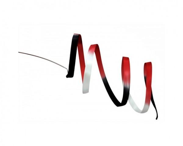 Nastro Pastorelli Sfumato Nero-Rosso-Bianco 5 mt - FIG - 03228