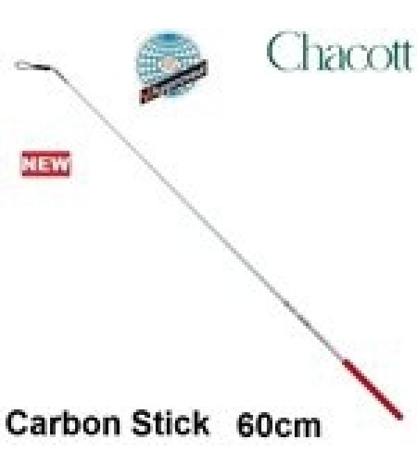 Bastoncino Chacott Carbon Bianco con Impugnatura Rossa 052 - 60 cm - FIG