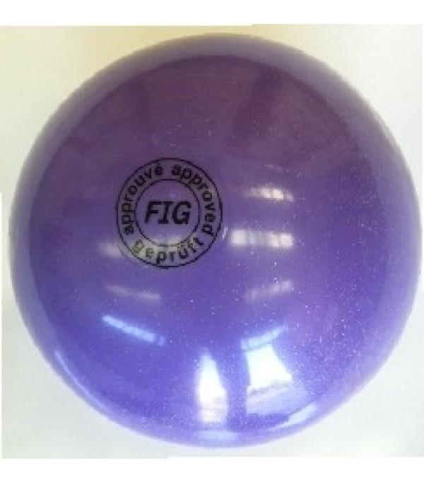 Palla Glitterata per Corsi Lilla 18 cm