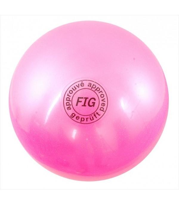 Palla Glitterata per Corsi Rosa 18 cm