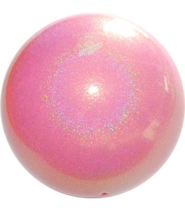 Palla Pastorelli diametro 18 cm Glitter Rosa Baby HV - 02447