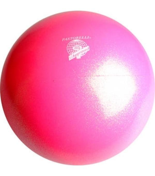 Palla Pastorelli diametro 18 cm Glitter Rosa Fluo HV - 00040