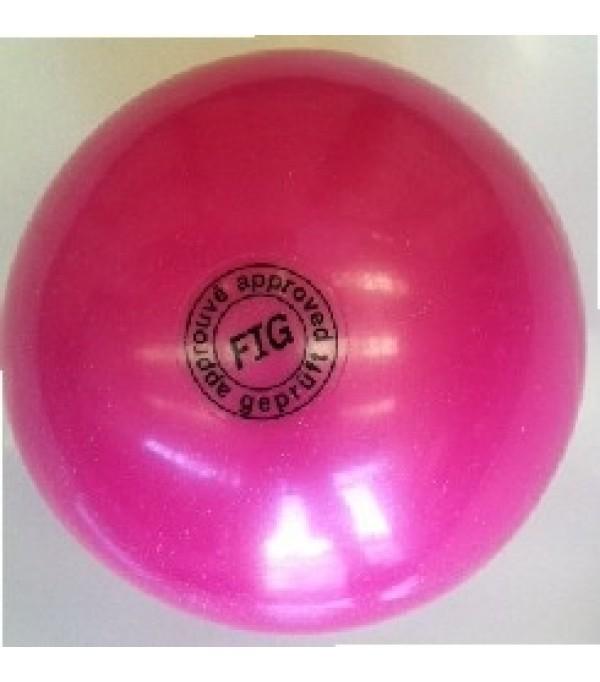 Palla Glitterata per Corsi Fucsia 18 cm