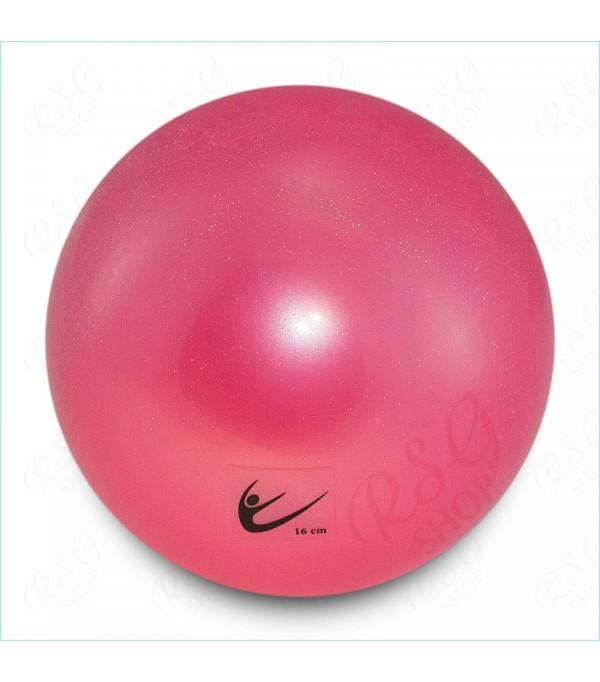 Palla Glitterata per Corsi Rosa 16 cm