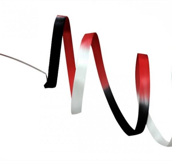 Nastro Pastorelli Sfumato Nero-Rosso-Bianco 5 mt - 03228